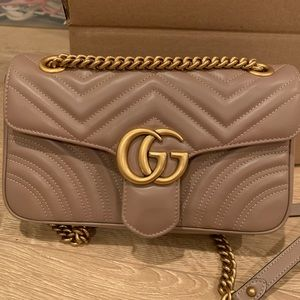 Gucci Marmont Small Shoulder Bag Dusty Pink